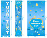 Love / Valentine's Day web banner set Royalty Free Stock Photography