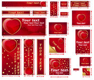 Love / Valentine's Day web banner set. Contains a lot of sizes. Stock Images