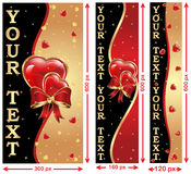Love / Valentine's Day web banners Royalty Free Stock Photos