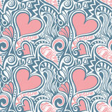 Love Valentine seamless pattern Stock Photography