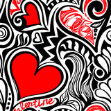 Love Valentine seamless pattern Stock Photos