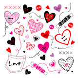 Love Valentine Sweetheart Vector. Love Valentine Sweetheart Design Vector Stock Images