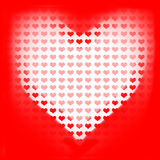 Love of valentines background. Big red heart Stock Photography