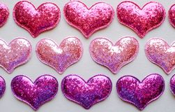 Love Valentines day background with red hearts. copy space. stock images