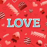 LOVE Valentines Day Card Stock Image