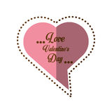 Love valentines day card heart shape bubble shadow Stock Image