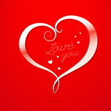 Love Valentines Day Greeting card Royalty Free Stock Photography
