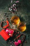 Love Valentine tea greeting card Royalty Free Stock Photos
