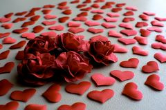 Love Valentines day romantic background. hearts and roses beautiful. Love Valentines day romantic background. hearts and roses beautiful stock photos