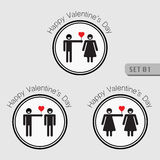 Love and Valentines icon. Stock Photos
