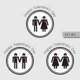 Love and Valentines icon. Stock Photo