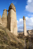 Love Valley. Landscape of pinnacles in Love Valley near Goreme, Turkey stock photos