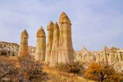 Love valley in autumn, Cappadocia, Turkey Stock Image