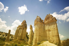 Love valley in capadocia Stock Photos