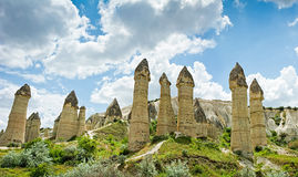 Love valley at Cappadocia, Anatolia, Turkey. Royalty Free Stock Images