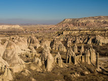 Love Valley Rock Pillars in Cappadocia, Turkey Royalty Free Stock Image