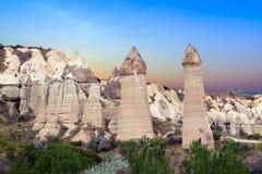 Love valley in Goreme, Cappadocia Stock Photo