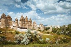 Love valley Goreme Cappadocia Turkey summertime Stock Photo