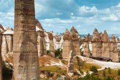 Love valley Goreme Cappadocia Turkey summertime Royalty Free Stock Photo