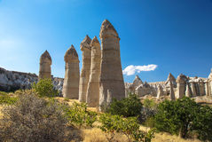 Love Valley near the Göreme, Cappadocia, Turkey Royalty Free Stock Photos