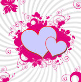 Love vector background. Illustration of love vector background Royalty Free Stock Image