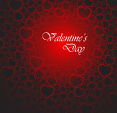 Love vector background made from red hearts. (valentine's day card Stock Photo