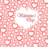 Love vector background made from red hearts. (valentine's day card Royalty Free Stock Photography
