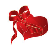 Love vector box. Isolated on the white Royalty Free Stock Photo