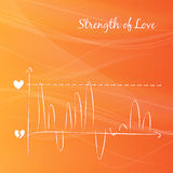Love vector diagram. Royalty Free Stock Image