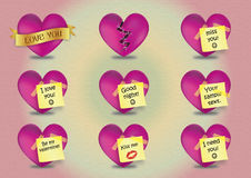 Love vector hearts. Royalty Free Stock Images