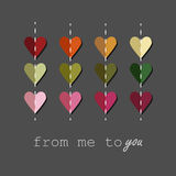 Love. Vector illustration. The best surprise to your dear people - your heart Stock Image
