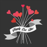 Love. Vector illustration. The bouquet of love meaning happily ever after Royalty Free Stock Photos