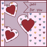 Love. Vector illustration. Card meaning the love of people to other people Royalty Free Stock Photography