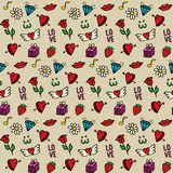 Love - vector seamless pattern  Royalty Free Stock Image