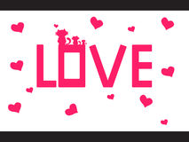 LOVE VECTOR FOR VALENTINES DAY Royalty Free Stock Image