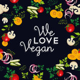 We love vegan food design with vegetables Royalty Free Stock Photography