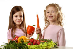 We love vegetables! Stock Images
