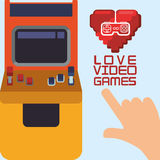 Love video games arcade heart control Royalty Free Stock Image