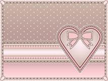 Love vintage background with heart Royalty Free Stock Photos