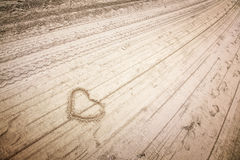 Love vintage heart Royalty Free Stock Photography