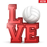 Love volleyball inscription. Royalty Free Stock Images