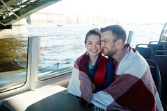 Love and voyage. Affectionate dates enjoying voyage on sunny day Royalty Free Stock Images