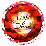 Love vs dead valentines day design  illustration. Royalty Free Stock Photography