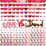 Love vs dead valentines day design  illustration Stock Photography