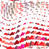Love vs dead valentines day seamless pattern vector illustration Royalty Free Stock Images