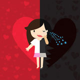 Love VS Heartbreak Royalty Free Stock Images