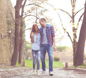 Love walk in nature Royalty Free Stock Photo