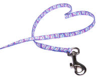 Love Walking the Pet. A pet's leash in the shape of a heart for the love of pets.  Walking a pet is also good for health Royalty Free Stock Images