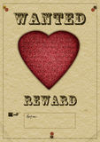 Love wanted poster - ideal Valtine, dating etc Royalty Free Stock Photo