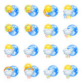 Love weather icons Stock Images